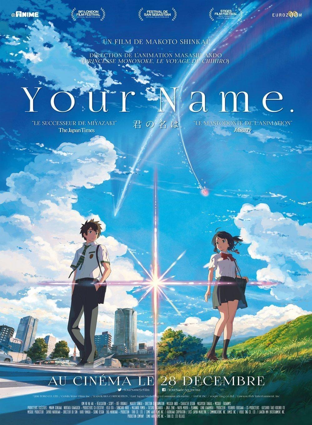 affiche de Your Name.