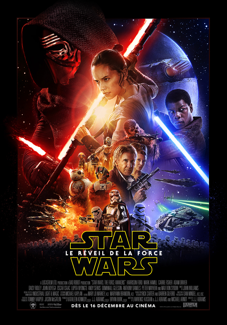 affiche de Star Wars Le Réveil de la Force